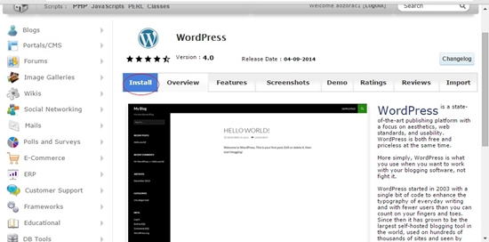 Cara Membuat Website, Instalasi wordpress
