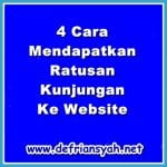 4 Cara Mendapatkan Ratusan Kunjungan Ke Website