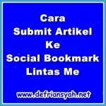 Cara Submit Artikel Ke Social Bookmark Lintas Me
