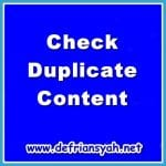 CheckDuplicate Content