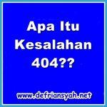 Kesalahan 404