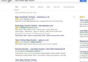 Pengertian Kata Kunci, Halaman pencarian Google