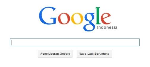Pengertian Keyword, Halaman depan Google