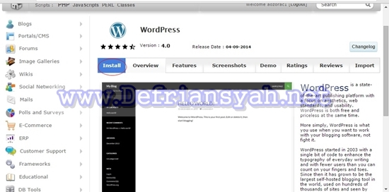 Menginstal WordPress