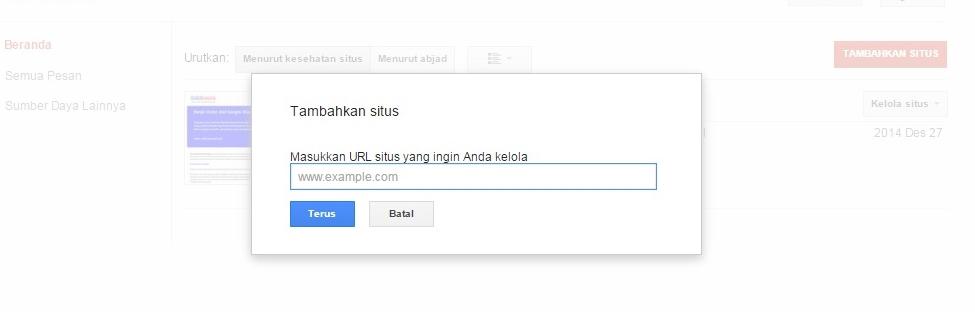 mendaftar google