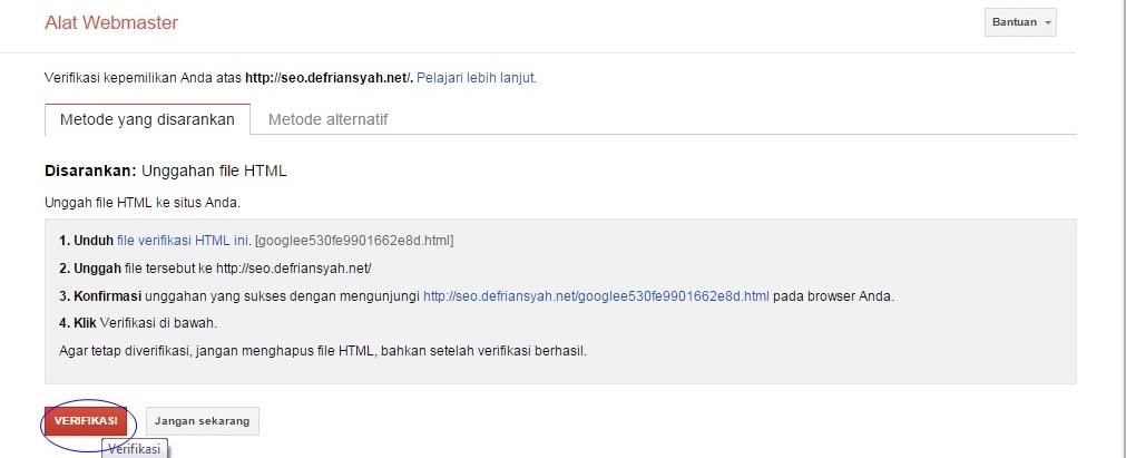 mendaftarkan web ke google