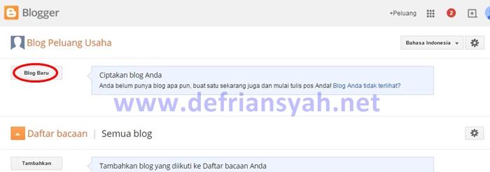Halaman Awal Blogger