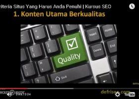 Kriteria Situs