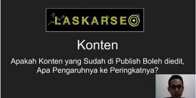 Apakah Konten yang sudah di publish boleh diedit