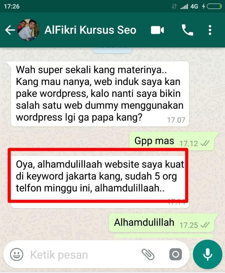 Testimoni Konsultan SEO Indonesia