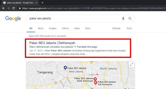 Rank Pakar SEO Jakarta
