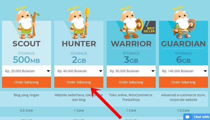 Cara membeli hosting