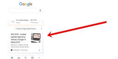 Contoh Google Discover