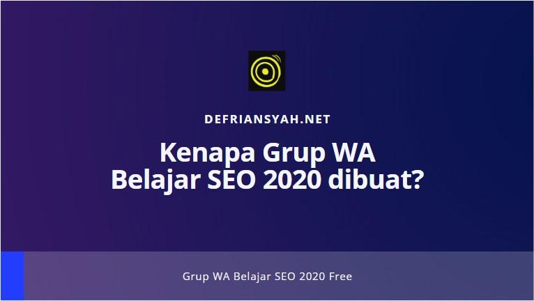 Grup WA Belajar SEO 2020