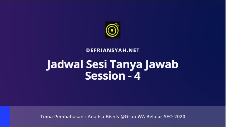 Jadwal STJ Session 4 Grup Belajar SEO 2020