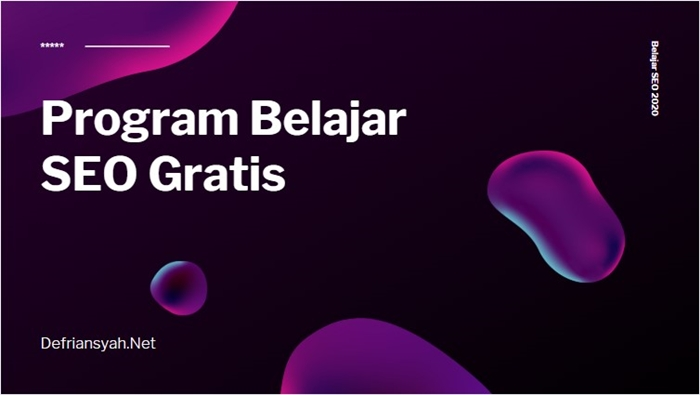 Program Belajar SEO Gratis