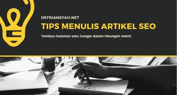 Tips Menulis Artikel SEO dari Pakar SEO Jakarta
