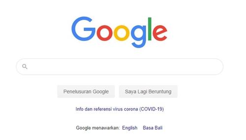 halaman pencarian Google