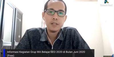 Informasi Kegiatan Belajar SEO Juni 2020