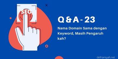 Nama Domain Sama dengan Keyword