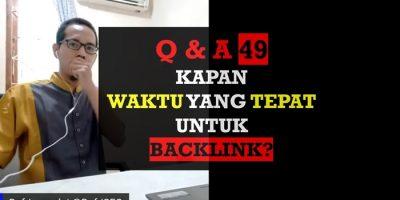 Kapan Waktu yang Tepat Untuk Backlink