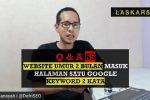 Website Umur 2 Bulan Halaman Satu Google