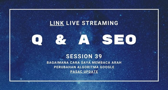 Link Live Streaming Q & A SEO Session 39